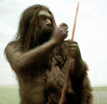 paleo man and spear